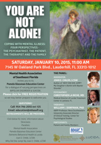 YOU ARE NOT ALONE – EVENT JAN. 10TH 11AM