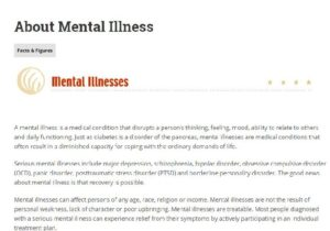 Mental Illness defined by NAMI