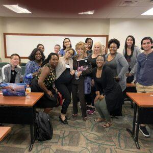 Joan E. Childs speaks at Nova Univeristy